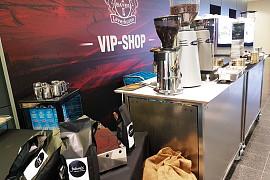 Barista Kaffee Lounge in der VIP Arena Bayer Leverkusen