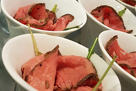 Roastbeef als Finger Food